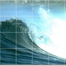 Waves Picture Dining Room Mural Wall Tile Renovate Contemporary