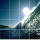 Waves Photo Room Mural Wall Dining Tiles Renovate Interior Ideas