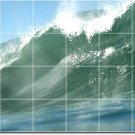 Waves Image Tiles Mural Room Wall Dining Idea House Construction