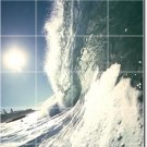Waves Picture Wall Shower Mural Bathroom Tiles Remodeling Ideas