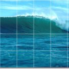 Waves Picture Room Dining Tile Wall Commercial Construction Idea