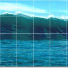 Waves Photo Mural Room Mural Tiles Wall Interior Decorate Modern