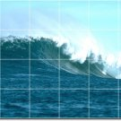 Waves Picture Room Mural Wall Dining Tile Interior Modern Decor