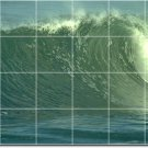 Waves Picture Tile Room Wall Dining Traditional Home Renovations