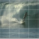 Waves Picture Tile Wall Dining Room Traditional Renovations Home