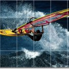 Waves Photo Room Wall Tile Dining Mural Modern Interior Renovate