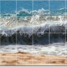 Waves Image Room Wall Mural Tile Dining Interior Renovate Modern