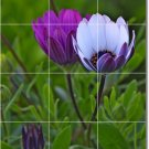 Flowers Photo Mural Wall Room Dining Tile Home Ideas Remodeling