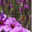 Flowers Picture Shower Tile Wall Murals House Remodeling Modern