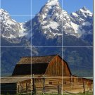 Mountains Picture Floor Room Murals Dining Wall Art Home Modern