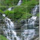 Waterfalls Photo Floor Tiles Bathroom Interior Remodeling Ideas