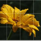 Flowers Image Shower Bathroom Wall Murals Decorating House Ideas
