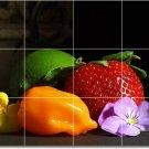 Fruits Vegetables Image Tiles Shower Mural Design Remodeling Home