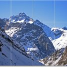 Mountains Photo Mural Tile Backsplash Construction Contemporary