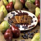 Fruits Vegetables Picture Murals Tile Dining Room Art Modern