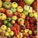 Fruits Vegetables Picture Tiles Floor Mural Kitchen Remodel