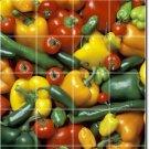 Fruits Vegetables Image Murals Wall Dining Room Tile Modern Decor