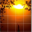 Sunsets Image Murals Wall Tile Bathroom Contemporary Renovations