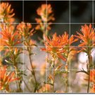Flowers Picture Living Murals Tile Room House Construction Idea