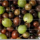 Fruits Vegetables Image Backsplash Tiles Mural Design Commercial