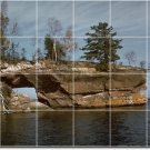 Lakes Rivers Photo Tiles Kitchen Wall Construction Design Home