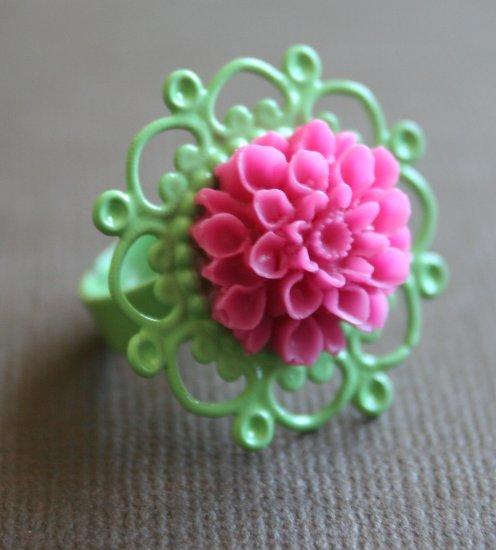 Minty Pink Spring Ring
