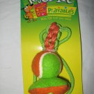 Dog Toy Orange Green Tennis Ball on Star Rope Durable