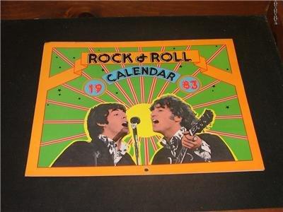 1983 Rock & Roll Calendar