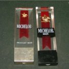 2 Michelob Tap Handles 6 1/2  X 32  Lucite & Metal
