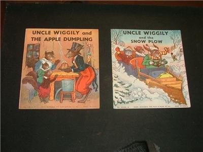 2 Uncle Wiggily books, 1939, Snow Plow & Apple Dumpling