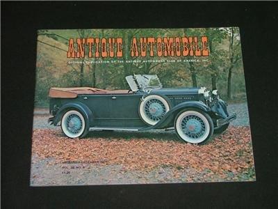 ANTIQUE AUTOMOBILE Magazine Nov.-Dec. '74 Great Photo's