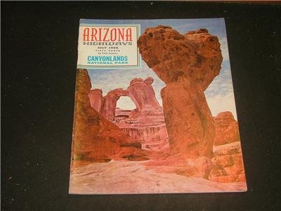 ARIZONA HIGHWAYS July 1966 Canyonlands Park White Mtn