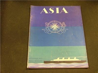 Asia November 1931