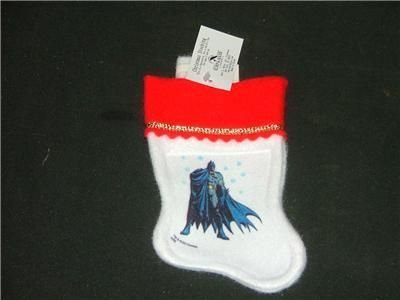 Batman Mini Christmas Tree Stocking Kurt & Adler NEW
