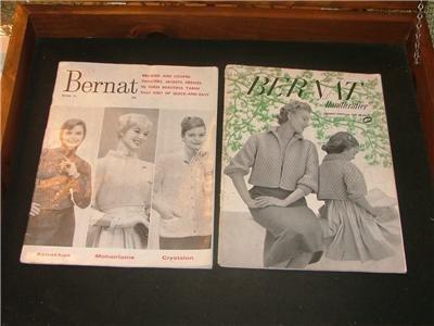 Bernat Handicrafter magazine # 41 1954 & # 75 1959