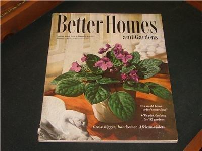 Better Homes and Gardens GARDENING RECIPES & Jan. 1952