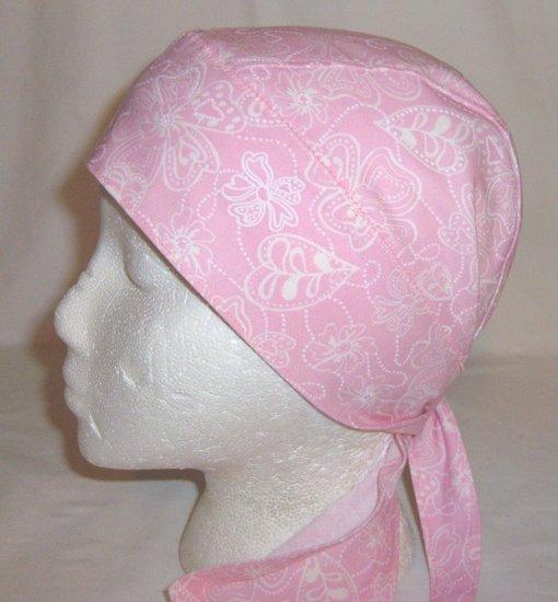 Pink Spring Flowers Head Wrap