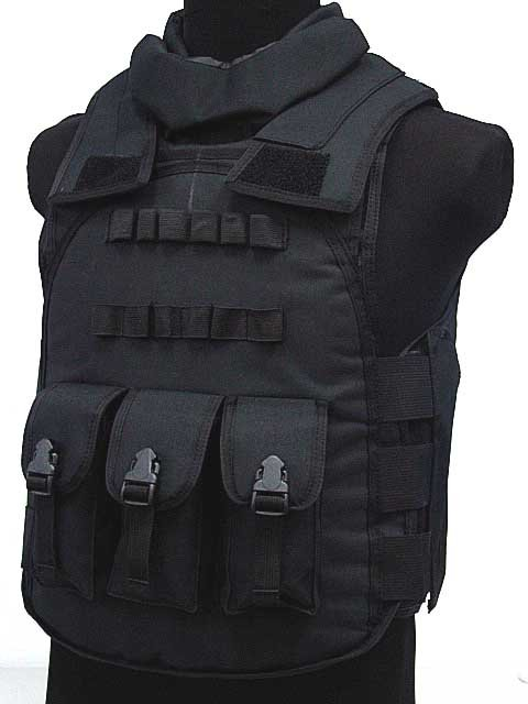 SWAT Airsoft Paintball Tactical Combat Assault Vest BK