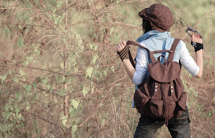 Womens Brand new canvas Backpack school bags as