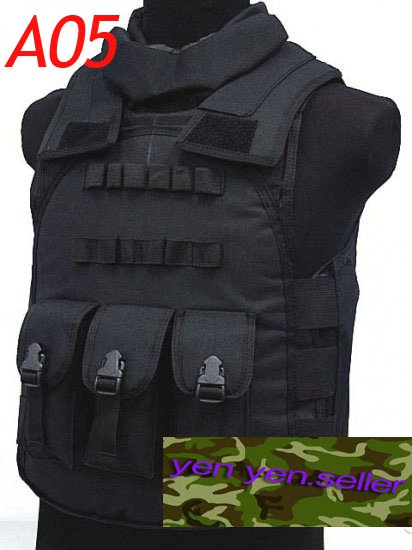 Airsoft Paintball Tac Combat Assault Vest Camo