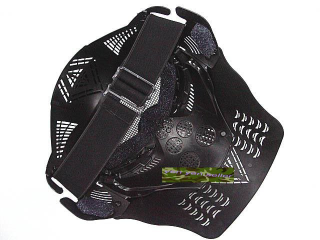 Full Face Airsoft Goggle Mesh Mask w