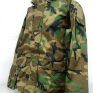 SWAT Airsoft Parka Jacket Waterproof Camo Woodland XL