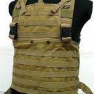 SWAT Molle Chest Rig Platform Carrier Vest Coyote Brown