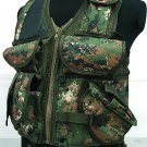 Hunting Tactical Assault Vest Digital Camo Woodland B