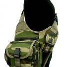 Tactical SWAT Utility Shoulder Bag Pouch Camo Woodland