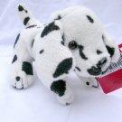 NWT  Dalmatian White Black Dog Puppy 2 Plush Stuffed Animal Lot