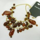 NWT Charles Klein Brown Bead Chunky Necklace