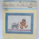 Daisy Kingdom Bucilla Wagon Full of Friends Bear counted cross stitch kit 40557-407