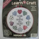 Dimensions Home is Where the Heart is stamped cross stitch kit 72408