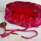La Regale LTD vintage hot pink satin evening clutch purse